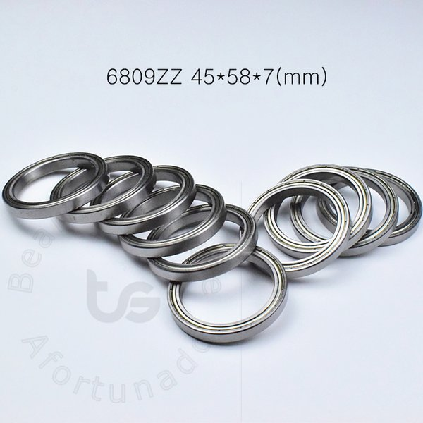 best selling 6809ZZ bearing Metal sealed Thin wall bearing free shipping 6809 6809ZZ 45*58*7mm chrome steel deep groove bearing