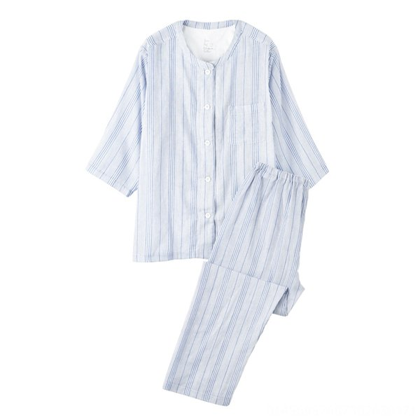 Women's Blue Stripes (cropped Sleeves +