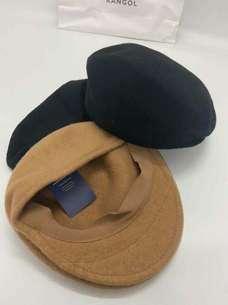 best selling kangaroo beret hat mens kange embroidery animal winter fall velvet woolen beret wool street trend all-match