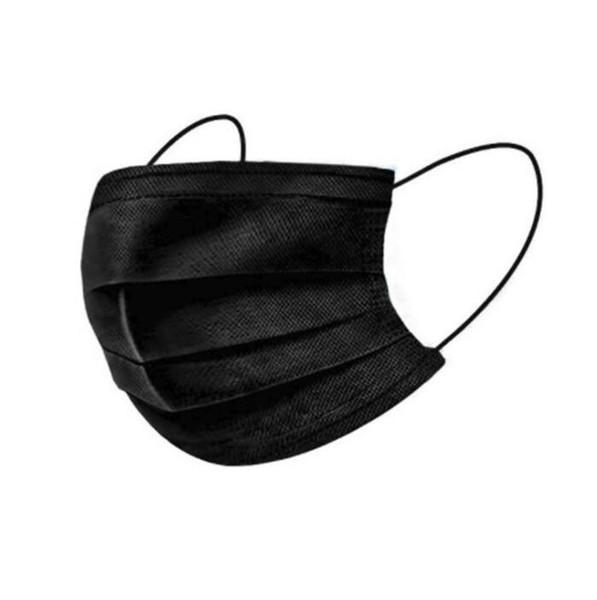 Máscaras preto facial descartável