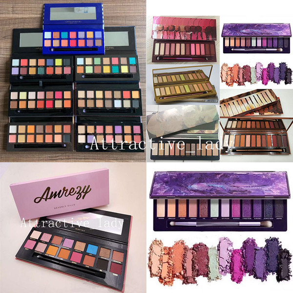 top popular In stock Makeup Perfect 20 Styles Eyeshadow Pink Yellow Black Green Purple palette Matte Eyeshadow Palette 2020