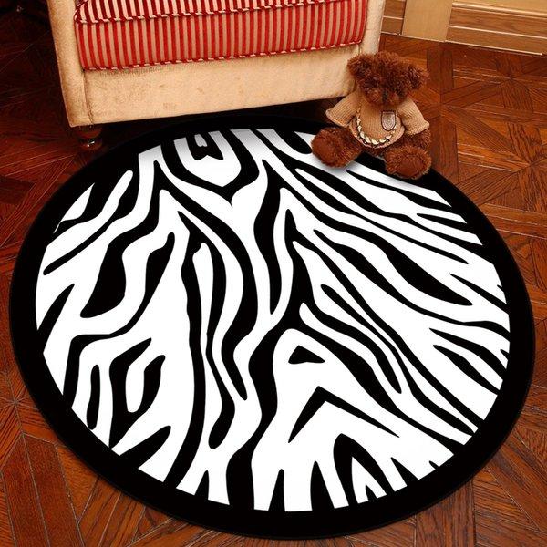 noir et zébrures blanches -180cm