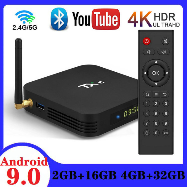 best selling TX6 Allwinner H6 Android 9.0 TV Box 4GB+32GB Dual WiFi 2.4G+5G With Bluetooth 5.0 PK H96 Max