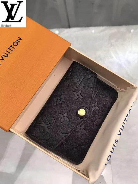 best selling Libobo4 Empreinte Black Pebbled Embossed Leather Key Case M60633 Long Wallet Chain Wallets Compact Purse Clutches