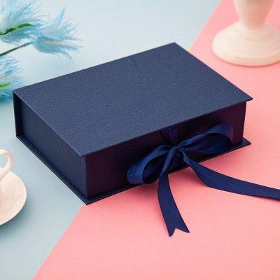 navy blue box personalizzato 31x22x10cm