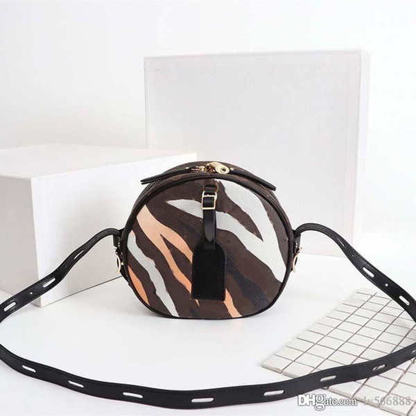 top popular High quality luxury shoulder bags for women totes bag leather Cross body designer bags handbags Clutch Round cake bag 52294-13 2020