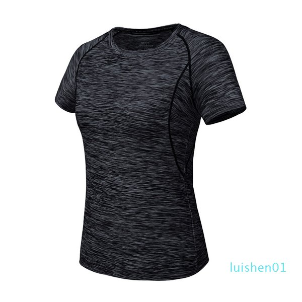 top popular Little Donkey Andy Quick Dry Slim Short Sleeve Women T- Shirt O Neck Running Sportswear t shirt Fitness Yoga Hiking Tees Tops l01 2021