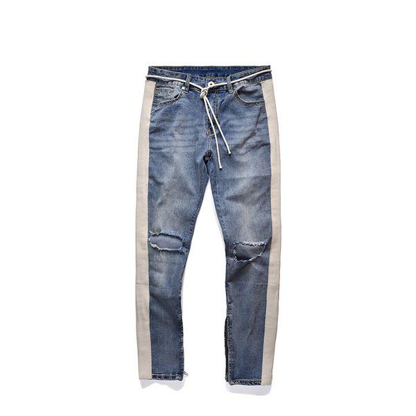 jeans rasgados azules