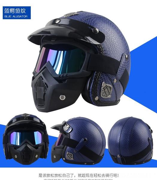 blu modello coccodrillo maschera casco +