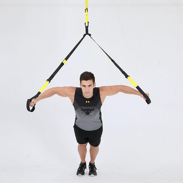 top popular Resistance Bands crossfit Equipment Strength Hanging Training Strap Fitness Exerciser Workout Suspension Trainer Belt BEST GIFT 2021