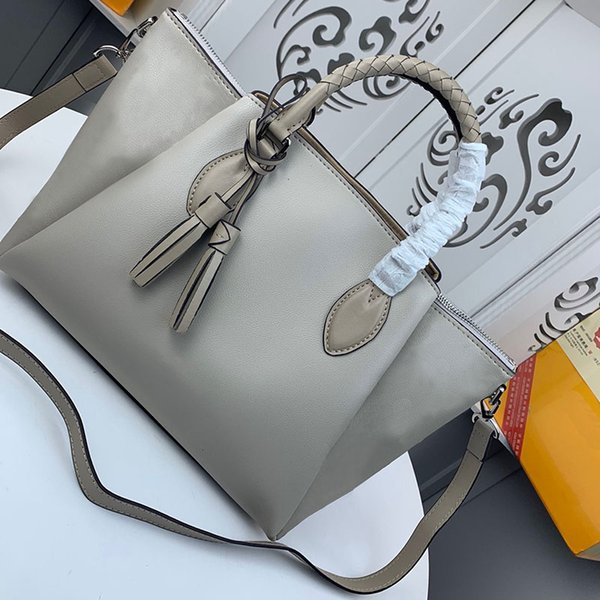 top popular Classic Real Oxidation Leather Shoulder Bag Tote Designer Handbags Women Presbyopic Clutch Shopping Bag Purse Shopper Bags wellt purse 2020