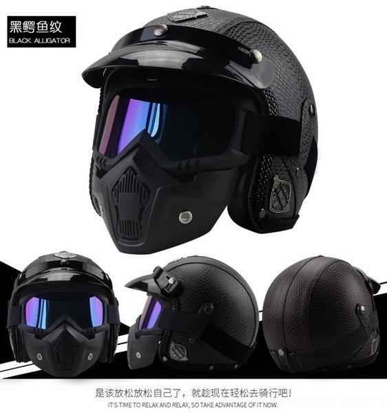 modello coccodrillo nero maschera casco +