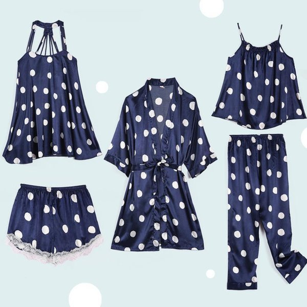 5PCS Set Navy Blue