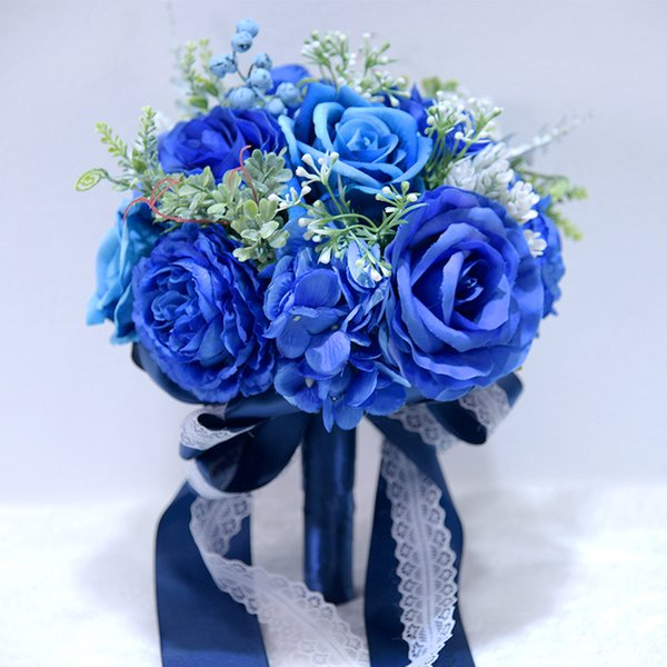 blau Blumenstrauß nur