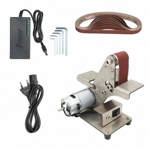 top popular Electric DIY Polishing Machine Mini Belt Sander Sand-belt Machine Desktop Sander Belt Sanding Grinding XGXr# 2021