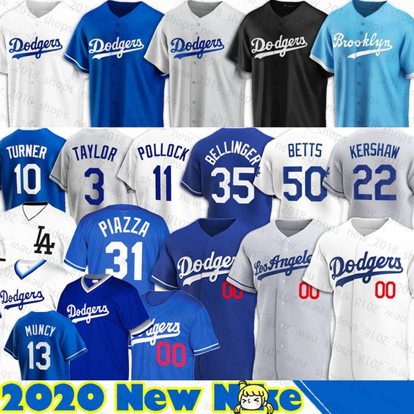 top popular Dodgers Jerseys 50 Mookie Betts Jersey Joe Kelly 22 Clayton Kershaw Custom Cody Bellinger Joc Pederson Baseball A.J. Pollock Justin Turner C 2020