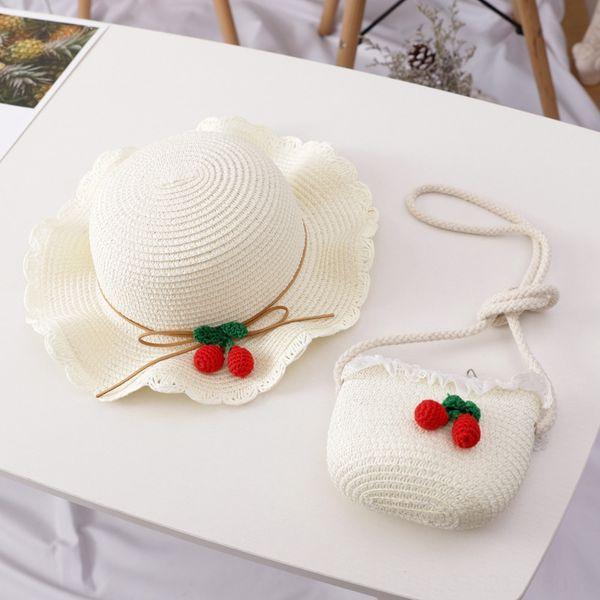 cereja chapéu saco conjunto branco leitoso