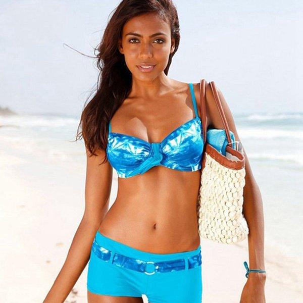 Gradiente bikini azul