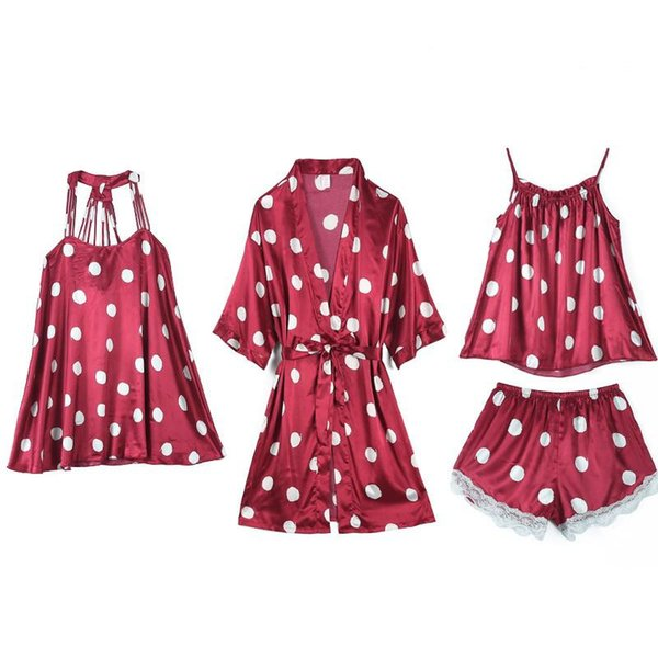 4PCS Set Burgundy