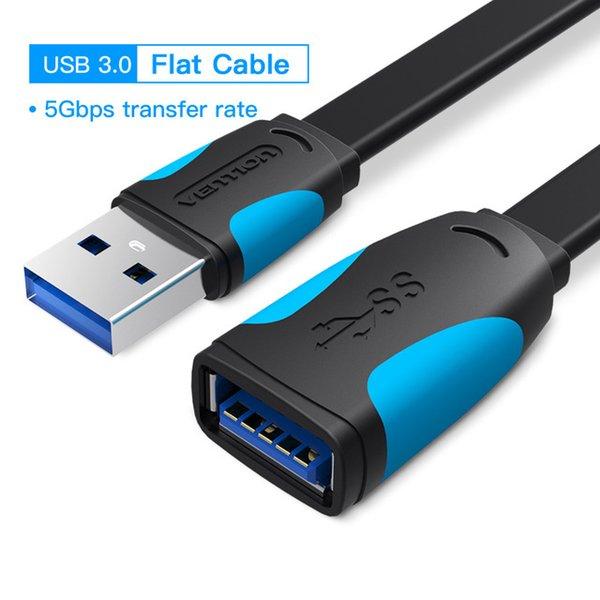 USB 3.0 Flat Black - 0.5m