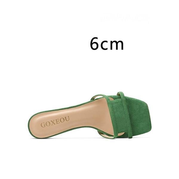 Tacón verde 6 cm
