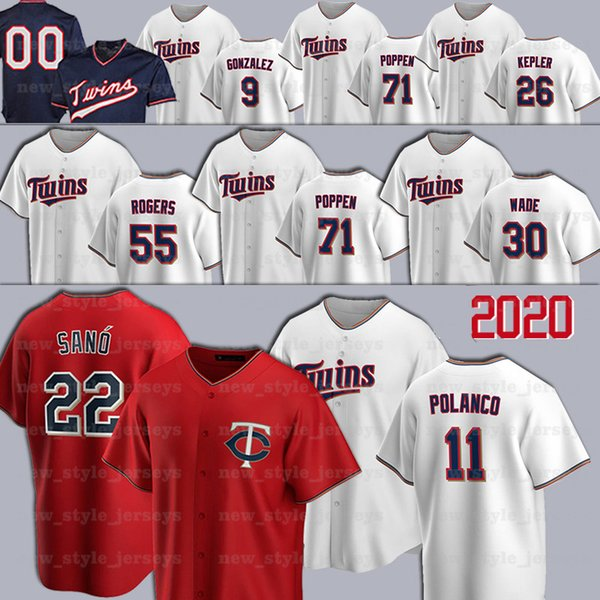 best selling Minnesota 11 Jorge Polanco Twins Jersey Taylor Rogers Jose Berrios 20 Eddie Rosario Max Kepler Rod Carew Harmon Killebrew Baseball Jerseys