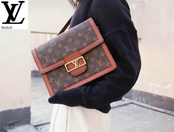 top popular Libobo4 19 Show Models Dauphine Vintage Old Color Messenger Bag Crossbody Bag M44391 Handbags Bags Top Handles 2020