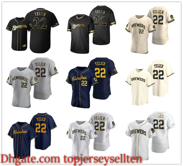 best selling MilwaukeeBrewersMEN WOMEN YOUTH 22 Christian Yelich Authentic Road baseball Jersey