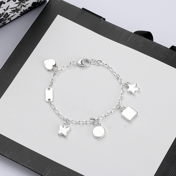 best selling High Quality Chain Silver Plate Bracelet Star Gift Butterfly Bracelet Top Chain Bracelet Fashion Jewelry Supply