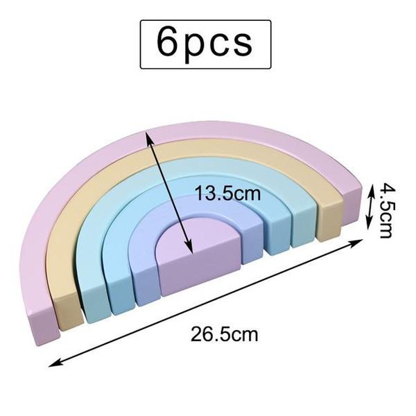 6PCS 보라색 26.5cm
