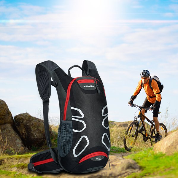 best selling Bicycle Backpack Ultralight Sport Riding MTB Hydration Backpack 15L Bike Bicycle Cycling Backpack with rain cover,no water bag MX200717