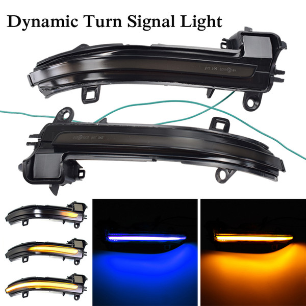 best selling Blue-Yellow LED Dynamic Turn Signal Blinker Mirror Flasher Light For BMW 1 2 3 4 Series X1 F20 F22 F30 F34 F32 E84