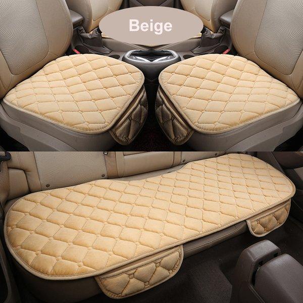 Automóviles cubierta invernal de coches cubierta del coche delantero / trasero / del sistema completo del amortiguador de asiento antideslizante corto silla de la felpa del amortiguador de asiento auto protector estera del cojín