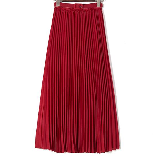 Wine Red Long Skirts