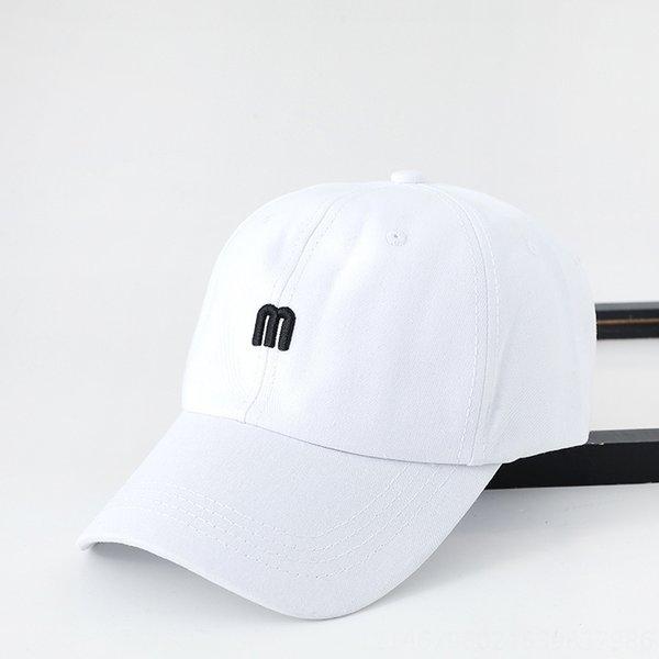 on392 beyzbol şapkası m mektup Beyaz