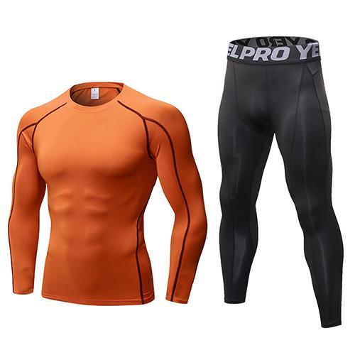 Оранжевые черные брюки
