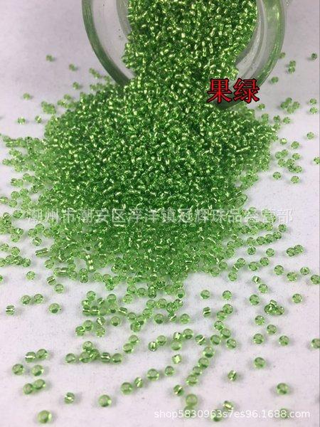 24 # meyve Yeşil-11x0 (2.1mm köşe boncuk)