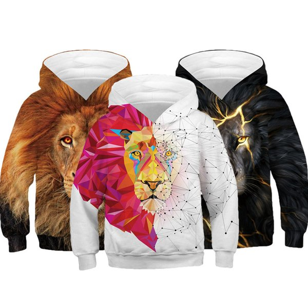best selling Big Size 3D Printing Wolf Boys Hoodies Teens Autumn Hooded Sweatshirt For Boys Kids Clothes Long Sleeve Pullover Tops Kids Coats