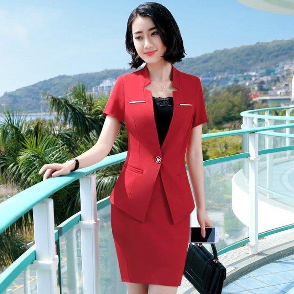 Traje rojo rojo de la falda +