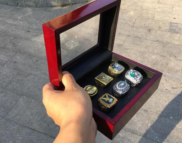 6pcs Eagl e ring set with wooden box