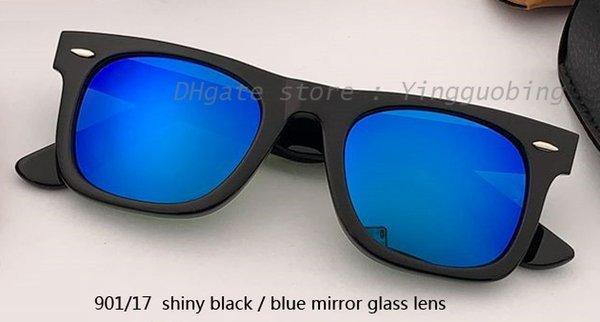 Lente a specchio nero / blu lucido 50mm901 / 17