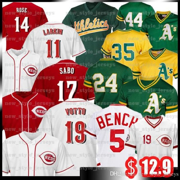 top popular 30 Ken Griffey Jr 14 Pete Rose Jersey 5 Johnny Benc 11 Barry Larkin 66 Yasiel Puig 17 Chris Sabo Baseball Jerseys 2020