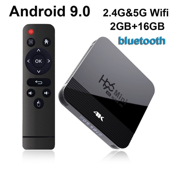 best selling H96 Mini H8 Android 9.0 TV Box 2GB 16GB RK3228A 2.4G 5G Wifi Bluetooth Set Top Box vs TX3 Mini MXQ Pro
