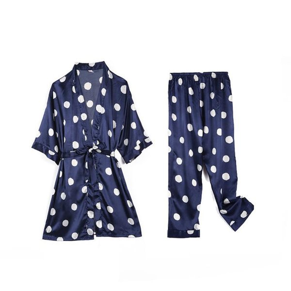 2PCS Set Navy Blue