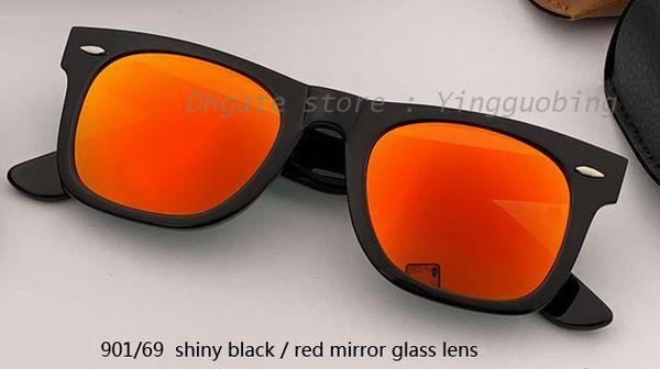 Lente specchio nero / rosso lucido 50mm901 / 69
