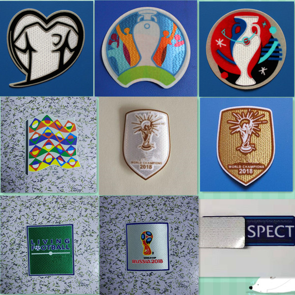 best selling 2018 2020 World Champions Qualifier Cup Patch Heat Transfer Soccer Badge