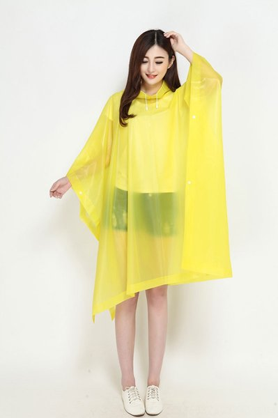 Yellow Capped Poncho-Length 130cm x Widt