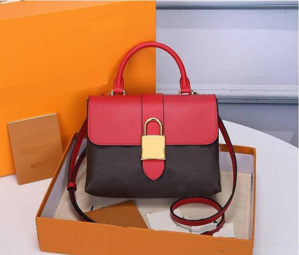 top popular Original style 2020 New High Quality Genuine Leather LOCKY BB presbyopia leather lock postman bag portable female bag handbag Shoulder Bags 2020