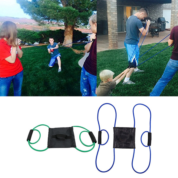 best selling Water Balloon Launcher 3 Person Water Ball Bomb Slingshot 2.1m Green+Blue