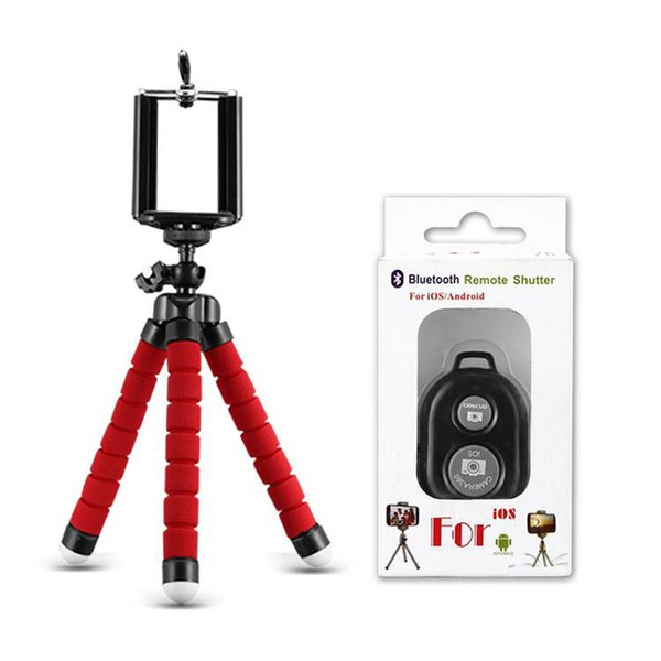 Holder&Bluetooth Remote Shutter-Red